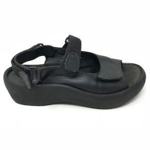 Wolky Jewel Black SlingbackComfort Walking Sandals